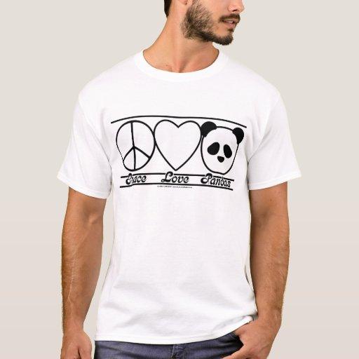Amor y pandas de la paz playera