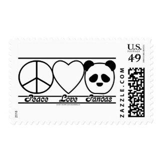 Amor y pandas de la paz franqueo