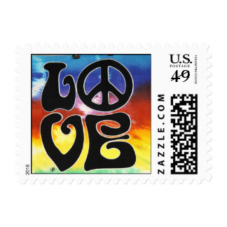 Amor y paz 60s retros estampillas