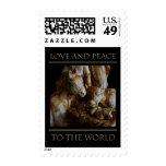 Amor y paz al mundo sellos