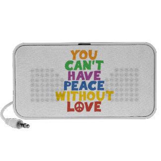 Amor y paz laptop altavoz