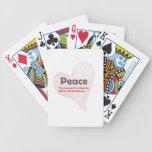 Amor y paz baraja