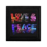 Amor y paz caja de regalo