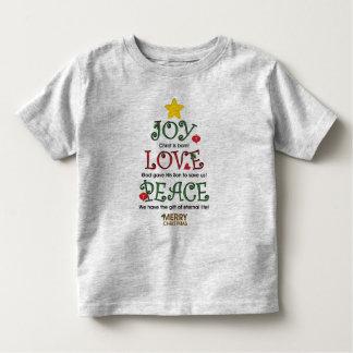 Amor y paz cristianos de la alegría del navidad t-shirts