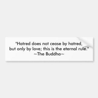 Amor y paz de Buda Pegatina Para Auto