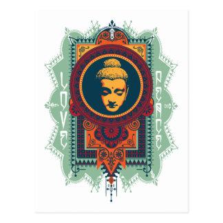 Amor y paz de Buda Tarjetas Postales