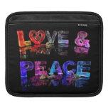 Amor y paz fundas para iPads