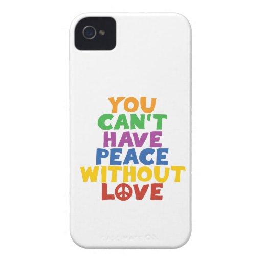 Amor y paz iPhone 4 protector
