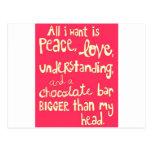 Amor y paz postales