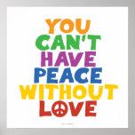 Amor y paz póster
