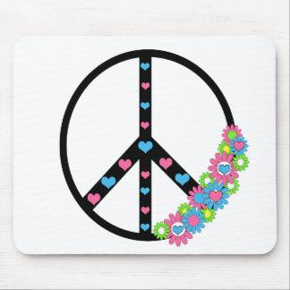 Amor y paz alfombrilla de ratones