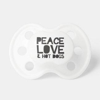 Amor y perritos calientes de la paz chupete