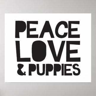 Amor y perritos de la paz póster