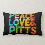 Amor y pitts de la paz cojin