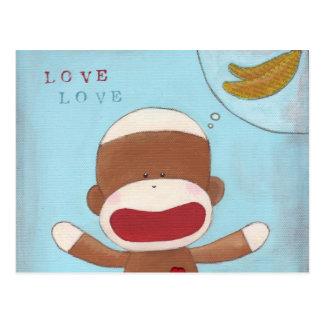 Amor y postal de los plátanos
