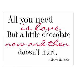Amor y postal del chocolate