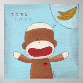 Amor y poster de los plátanos