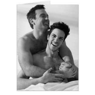 Amor y risa tarjeta de felicitación