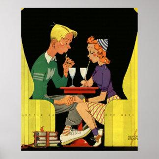 Amor y romance, adolescencias del vintage en la póster