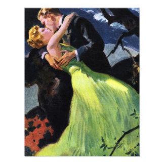 Amor y romance beso romántico del vintage