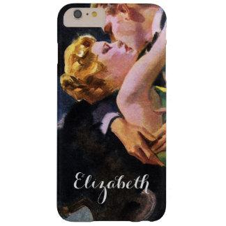 Amor y romance, beso romántico del vintage funda para iPhone 6 plus barely there