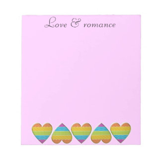 amor y romance bloc de notas