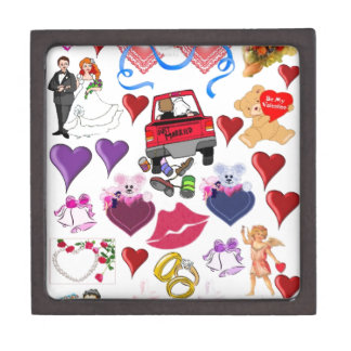 Amor y romance cajas de recuerdo de calidad