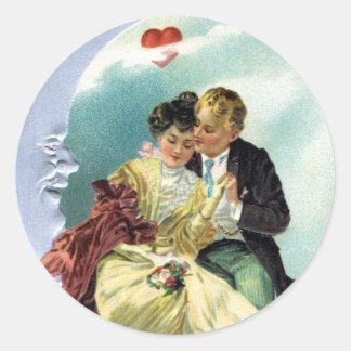 Amor y romance del Victorian del el día de San Pegatina Redonda