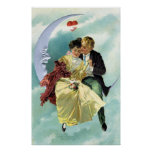 Amor y romance del Victorian del el día de San Póster