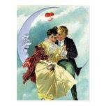 Amor y romance del Victorian del el día de San Tarjetas Postales