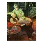 Amor y romance del vintage; Abuelos románticos Postal