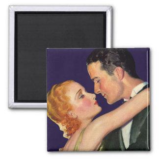 Amor y romance, Hollywood romántico del vintage Imán Cuadrado
