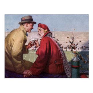 Amor y romance, par del vintage en el partido de postal