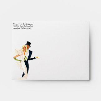 Amor y romance, par moderno del vintage del boda sobre