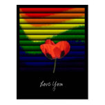 Amor y romance postal