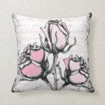 Amor y rosas almohadas