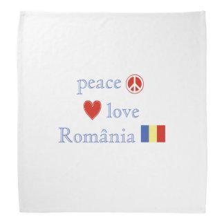Amor y Rumania de la paz Bandanas