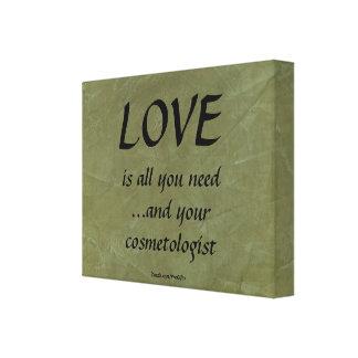 Amor y su cosmetologist impresión en lona estirada