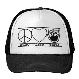 Amor y Tacos de la paz Gorros