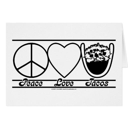 Amor y Tacos de la paz Tarjeta De Felicitación