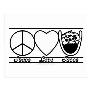 Amor y Tacos de la paz Tarjetas Postales