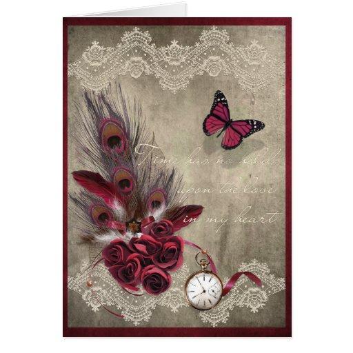 Amor y tiempo tarjeta de felicitación