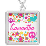 Amor y todo de la paz femeninos collares personalizados