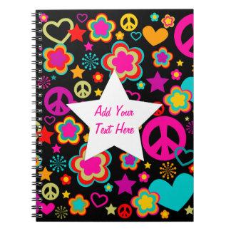 Amor y todo de la paz femeninos note book