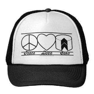 Amor y torta de la paz gorro de camionero
