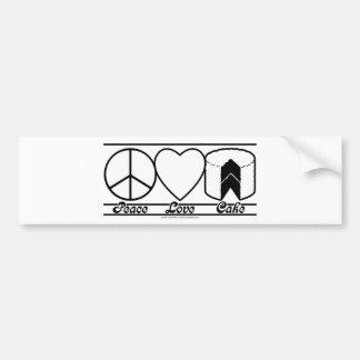 Amor y torta de la paz pegatina para auto