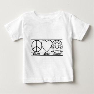 Amor y tortugas de la paz polera
