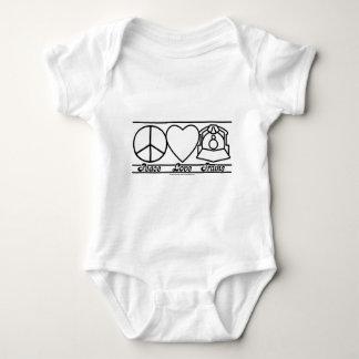 Amor y trenes de la paz body para bebé