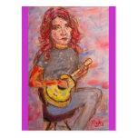 amor y ukulele de la paz postal