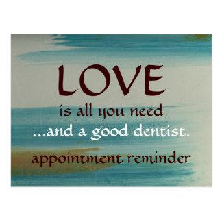 Amor y un buen dentista tarjetas postales